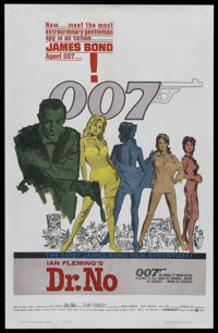 """Dr. No (United Artists, 1962). One Sheet (27"""" X 41""""). James Bond. Starring Sean Connery, Ursula Andress, Josep..."""
