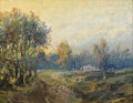 Texas:Early Texas Art - Impressionists, FRANZ STRAHALM (1879-1935). Untitled Landscape, 1920s. Oil onartistboard. 20in. x 26in.. Signed lower left. In this paint...