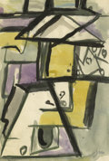 Texas:Early Texas Art - Regionalists, JOSEPHINE MAHAFFEY (1903-1982). Untitled Abstract. Watercolor andink. 5 1/2in. x 8in.. Signed lower right. Provenance:. E...