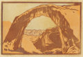 Texas:Early Texas Art - Drawings & Prints, FRANK REDLINGER (1909-1936). Rainbow Arch, 1931. Color-blockprint. 7in. x 10 3/4in.. Signed and dated lower right. Titl...(Total: 2 Items)