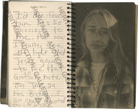 Anna Nicole Smith's Personal Journal From 1994. Absolutely fascinating diary handwritten by Smith during 1994 showing a...
