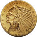Proof Indian Half Eagles: , 1908 $5 PR64 NGC. The year 1908 marked the beginning of the Mint'sexperimentation with differing finishes for proof gold c...