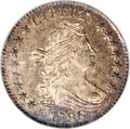 Early Dimes: , 1796 10C MS64 NGC. JR-4, R.4. Star 1, the lowest star on the left,is distant from the hair curls, and this position is dia...