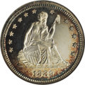 Proof Seated Quarters: , 1889 25C PR66 Cameo NGC. The 711 proof examples minted of thislater Seated quarter issue represents a significant fraction...