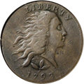 Large Cents: , 1793 1C Wreath Cent--Vine and Bars--VF25 NGC. S-5, B-6, R.4. Thisis the only known variety among all Wreath cents with lar...