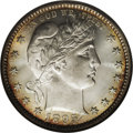 Barber Quarters: , 1895 25C MS66 NGC. The 1895, with its 4.440 million mintage, is aslightly better date, like the 1894-P (David Lawrence, 19...