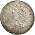 Bust Half Dollars: , 1809 50C MS61 PCGS. O-107, R.3. Fine straight lines radiate fromthe eagle's neck and left wing, and a rough area through t...