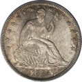 Seated Half Dollars: , 1885 50C MS66 PCGS. The 1885 has one of the lowest business strike mintages in the Seated Half dollar series with only 5,20...