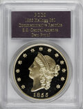 """Territorial Gold, SSCA Relic Gold Medal """"1855"""" Kellogg & Co. Fifty Dollar GemProof PCGS...."""