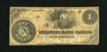 Canadian Currency: , Toronto, ON- Colonial Bank of Canada $1 Apr. 4, 1859 Ch.130-10-02-02. ...