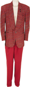 Movie/TV Memorabilia:Costumes, Buddy Ebsen's Suit From His One-Man Show. An eye-catching suit consisting of red slacks and red-and-black sport coat, worn b... (Total: 1 Item)