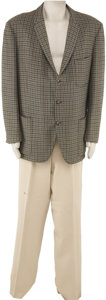 Movie/TV Memorabilia:Costumes, Buddy Ebsen's Barnaby Jones Jacket and Pants. A houndstoothjacket and khaki slacks worn by Ebsen on the series.... (Total: 1Item)