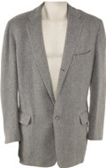 Movie/TV Memorabilia:Costumes, Buddy Ebsen's Barnaby Jones Jacket. This grey wool jacketwas worn by Ebsen in an unspecified episode of Barna... (Total:1 Item)