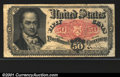 Fractional Currency: , 1874-1876 50c Fifth Issue, Crawford, Fr-1381, Fine. A tear in t...