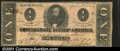 Confederate Notes:1863 Issues, 1863 $1 Clement C. Clay, T-62, Fine. A few minor stains are pre...