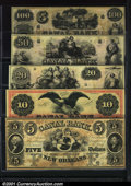 Obsoletes By State:Louisiana, A nice group of notes from the Canal Bank, New Orleans, LA, inc...