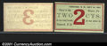 Obsoletes By State:New Hampshire, A pair of 1864 scrip issues from Concord, NH, both grading Choi...