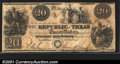 Miscellaneous:Republic of Texas Notes, 1840 $20 Republic of Texas, Cr-A6, VF, CC. A nice example with ...