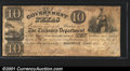 Miscellaneous:Republic of Texas Notes, 1838 $10 Government of Texas, Cr-H17, Fine+, CC. Signed by a cl...