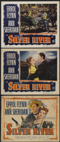 "Movie Posters:Western, Silver River (Warner Brothers, 1948). Title Lobby Card and Lobby Cards (2) (11"" X 14""). Western.... (Total: 3 Items)"