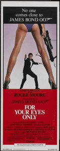 """Movie Posters:James Bond, For Your Eyes Only (United Artists, 1981). Insert (14"""" X 36"""").James Bond...."""
