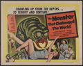 "Movie Posters:Science Fiction, The Monster that Challenged the World (United Artists, 1957). HalfSheet (22"" X 28""). Science Fiction...."