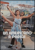 "Movie Posters:Academy Award Winner, An American in Paris (Cineriz, R-1980s). Italian Poster (18"" X26""). Academy Award Winner...."