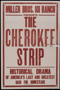 "Movie Posters:Western, The Cherokee Strip (Oil Field Amusu Company, 1925). One Sheet (28"" X 42""). Western...."