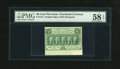 Fractional Currency:First Issue, Fr. 1312 50c First Issue with Wide Bottom Selvedge PMG Choice AboutUnc 58 EPQ....