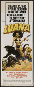 "Movie Posters:Adventure, Luana (Capital Productions, 1973). Insert (14"" X 36"").Adventure...."