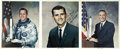 Autographs:Celebrities, Apollo 1 (Grissom, White, Chaffee) Individual Color PhotosSigned... (Total: 9 Items)