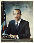 Autographs:Celebrities, Alan B. Shepard, Jr. (1923-1998) Color Photo Signed...