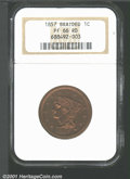 Proof Large Cents: , 1857 1C LG CENT, RD