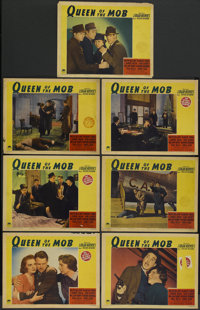 "Queen of the Mob (Paramount, 1940). Lobby Cards (7) (11"" X 14""). Crime.... (Total: 7 Items)"