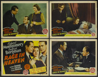 """Rage in Heaven (MGM, 1941). Title Lobby Card and Lobby Cards (3) (11"""" X 14""""). Drama.... (Total: 4 Items)"""