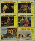"""Movie Posters:Crime, The Unholy Wife (RKO, 1957). Title Lobby Card and Lobby Cards (5)(11"""" X 14""""). Crime.... (Total: 6 Items)"""