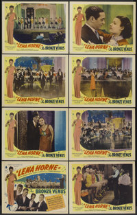 """The Bronze Venus (Toddy Pictures, R-1945). Lobby Card Set of 8 (11"""" X 14""""). Originally released as The Duke is..."""