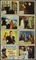 "Movie Posters:Crime, Johnny Allegro (Columbia, 1949). Lobby Card Set of 8 (11"" X 14"").Crime.... (Total: 8 Items)"