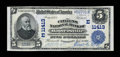 National Bank Notes:Pennsylvania, Hooversville, PA - $5 1902 Plain Back Fr. 606 The Citizens NB Ch. #(E)11413. ...