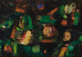Fine Art - Painting, European:Contemporary   (1950 to present)  , PIERO RUGGERI (Italian, b. 1930). Portuale di Notte, 1956. Oil on canvas. 27-1/2 x 39-1/2 inches (69.9 x 100.3 cm). Sign...