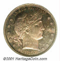 Proof Barber Quarters: , 1898 25C