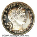 Proof Barber Quarters: , 1910 25C