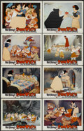 "Movie Posters:Animated, Snow White and the Seven Dwarfs (Buena Vista, R-1958). Lobby CardSet of 8 (11"" X 14""). Animated.... (Total: 8 Items)"