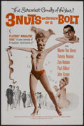 "Movie Posters:Sexploitation, 3 Nuts in Search of a Bolt (Harlequin International, 1964). OneSheet (27"" X 41""). Comedy...."
