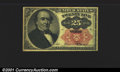 Fractional Currency: , 1874-1876 25c Fifth Issue, Walker, Fr-1308, VF. You may bid on ...