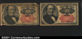 Fractional Currency: , 1874-1876 25c Fifth Issue, Walker, Fr-1308, Gem CU; and an 1874...