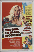 """Movie Posters:Crime, The Girl in Black Stockings (United Artists, 1957). One Sheet (27""""X 41""""). Crime...."""