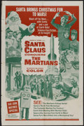 "Movie Posters:Fantasy, Santa Claus Conquers the Martians (Embassy, 1964). One Sheet (27"" X 41""). Fantasy...."