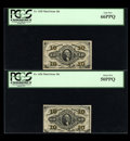 Fractional Currency:Third Issue, Three Third Issue 10c Notes.... (Total: 3 notes)
