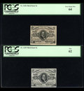 Fractional Currency:Third Issue, Complete Five Cent Clark Four Piece Set.... (Total: 4 notes)